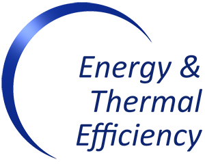 Energy Audit - Energy and Thermal Efficiency Audit Logo - Blue Arc