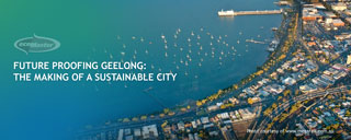aerial view of Geelong