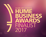 Hume Business Awards 2017 Logo - Finalist in Sustainability