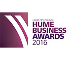 Hume Business of the Year Awards 2016 logo - maroon with white arcs - Award Winners with Retrofit Solutions