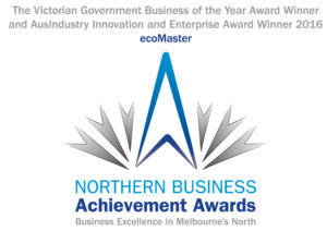 Northern Business Achievement Award Logo - blue and silver - Business Excellence in Melbourne's North Award Winners with Retrofit Solutions