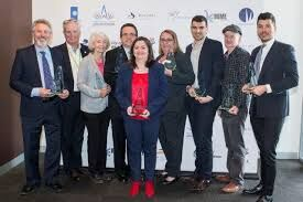9 award winners from NBAA awards. Maurice and Lyn Beinat - Business of the Year and Innovation and Enterprise Award - Award Winners with Retrofit Solutions