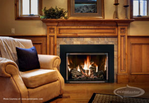 Warm, comfortable couch beside a wood fire in a cosy