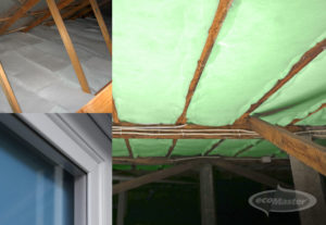 Polyester for Ceiling and Underfloor Insulation, Double Glazing for Windows