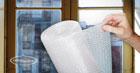 Insulating windows using bubble wrap