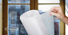 Insulating windows using bubble wrap