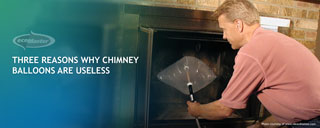 man pumping a chimney balloon