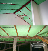 solutions for retrofitting the home: insulating the ceiling and under your floor