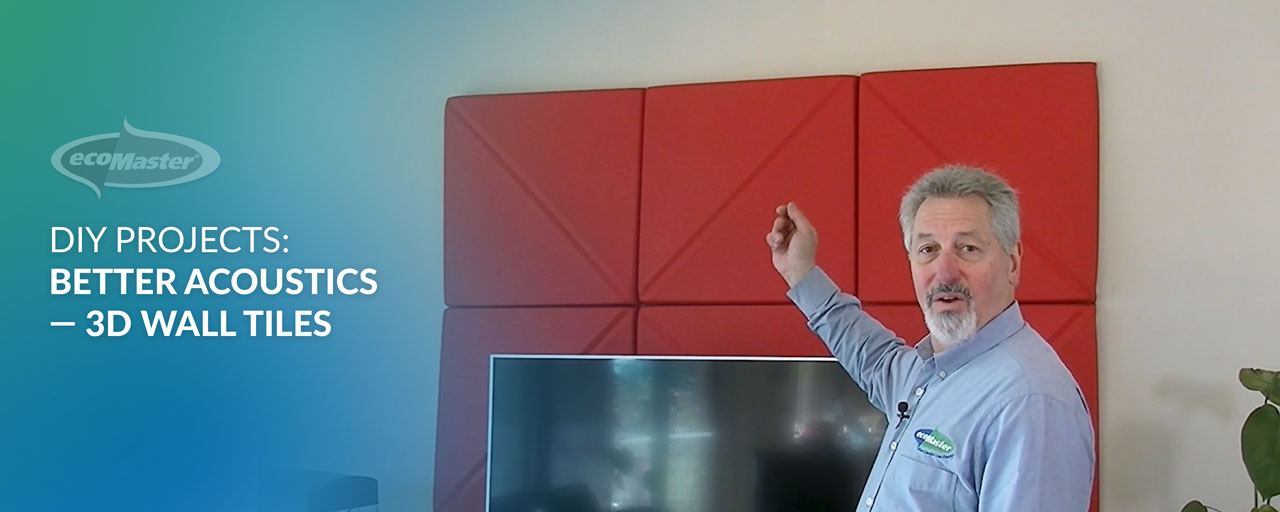 DIY Projects:  Better Acoustics – 3D Wall Tiles